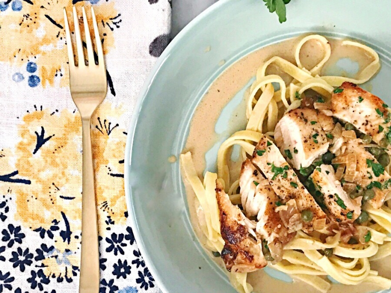 Extra Creamy Chicken Piccata Recipe Our Savory Life
