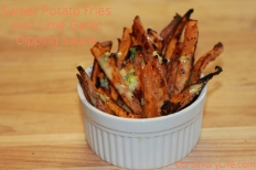 lime garlic dipping sauce for sweet potato fries