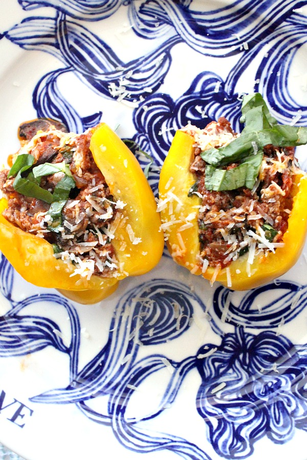 Mouthwatering paleo stuffed peppers!