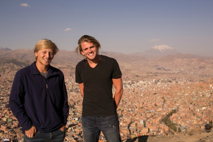 Cole LaBrant and John Grice with Compassion in Bolivia