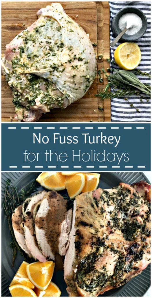 The best small turkey recipe! This juicy, flavorful bone-in turkey breast will please everyone!