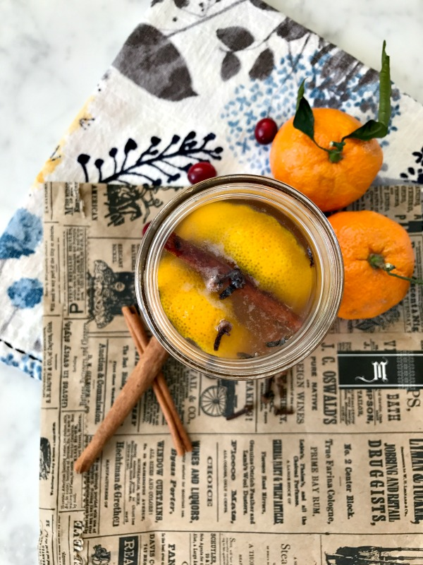 Cinnamon and orange simple syrup for the best holiday sangria recipe!