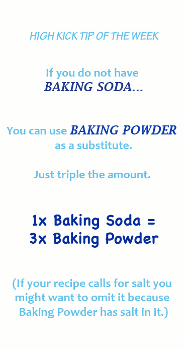 What can I substitute for baking soda?! Here is the conversion!!