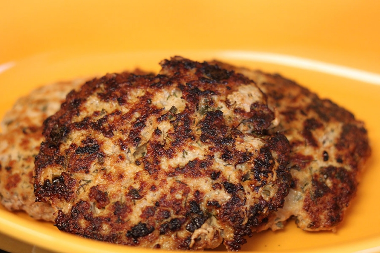 finished product: ground chicken burgers