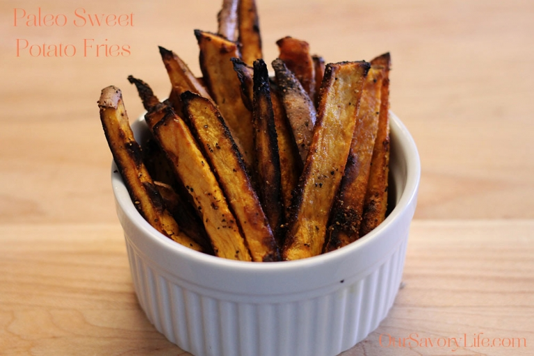 paleo sweet potato fries with seasoning