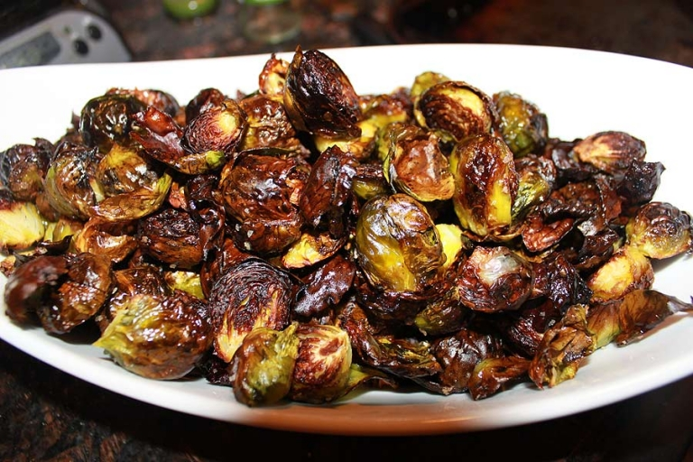 homemade oven roasted Brussels sprouts