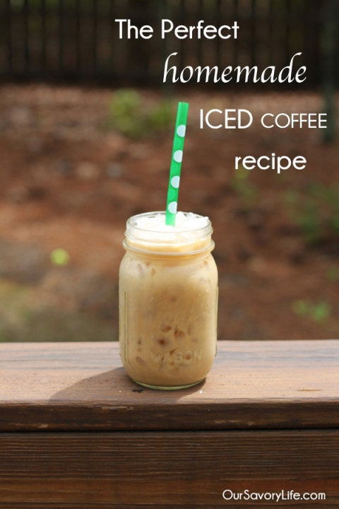 perfect homemade iced coffee in a french press