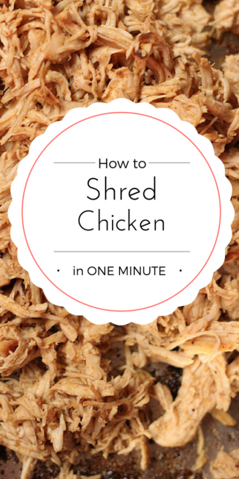 How to shred chicken in ONE minute using your stand mixer!