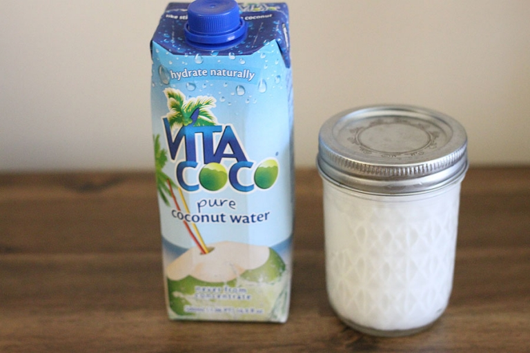 Coconut water for a coconut paleo smoothie!