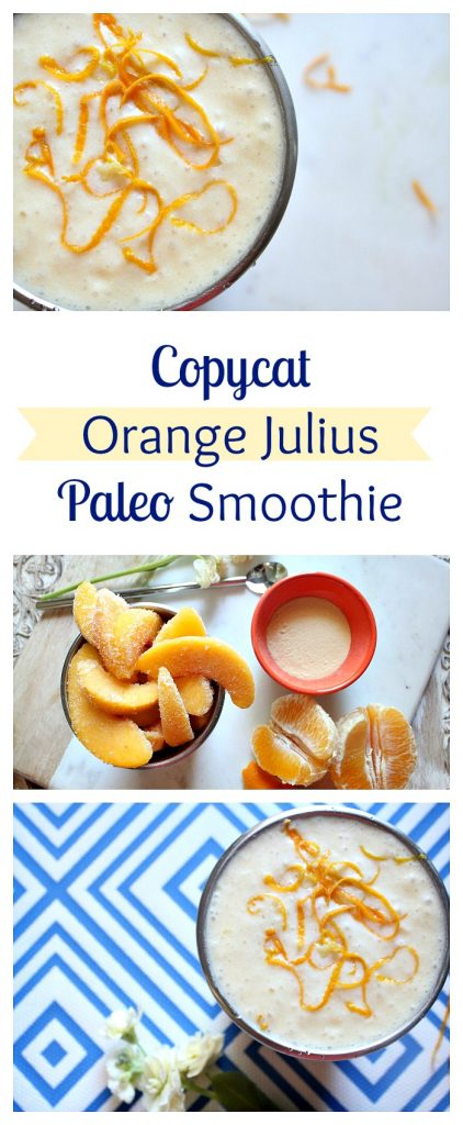 Copycat Orange Julius PALEO smoothie. Hydrating and perfect for your mornings!!
