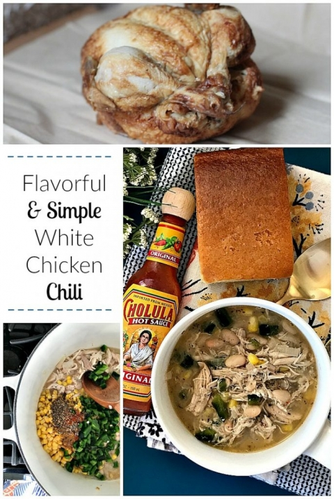 Yum! Flavorful and simple white chicken chili recipe!