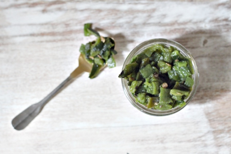 Healthy substitute for canned green chilis!