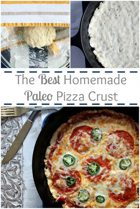 The BEST homemade paleo pizza crust! Healthy and delicious!