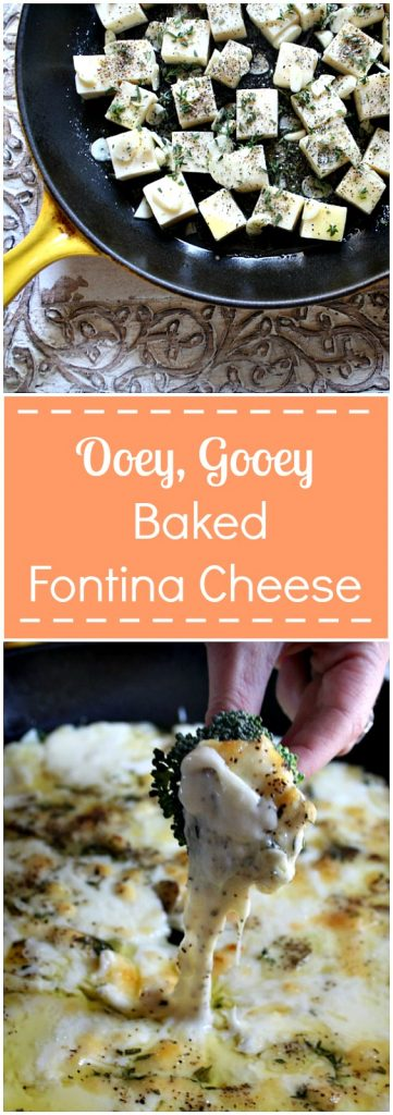 Ooey, gooey, melty baked fontina cheese. This appetizer pleases everyone!