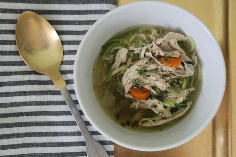 Paleo Chicken Zoodle Soup dinner tonight