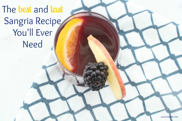 The best and last sangria recipe you will ever need!! <3