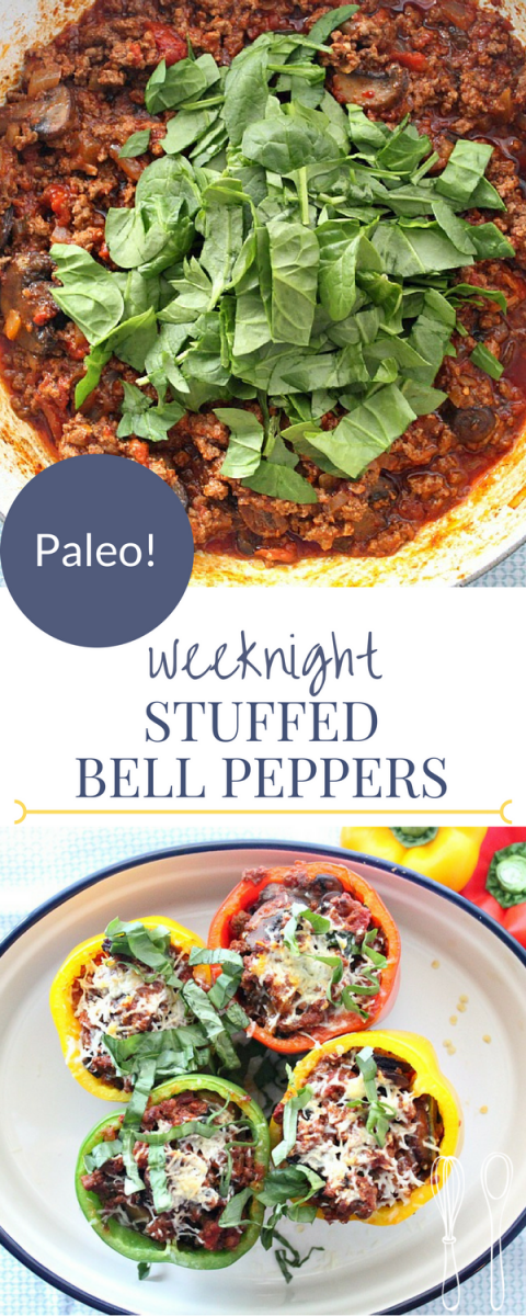 PALEO stuffed bell peppers for an easy weeknight meal! This recipe is insanely delicious!!
