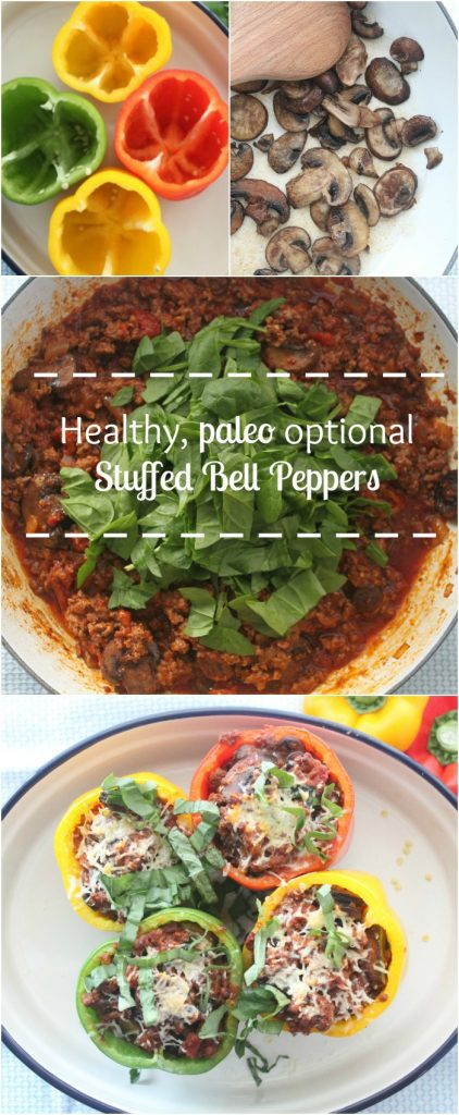 PALEO stuffed bell peppers. This recipe is insanely delicious and it is easy enough for a weeknight meal!! Pin now and make later this week!