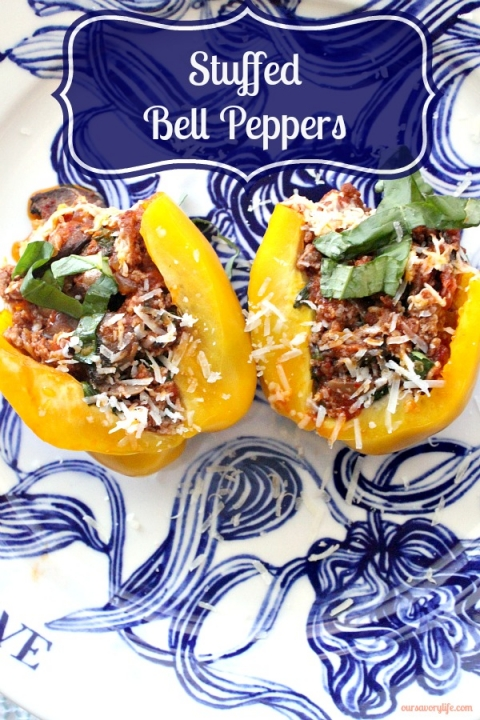 Incredible stuffed bell peppers. Insanely delicious!!