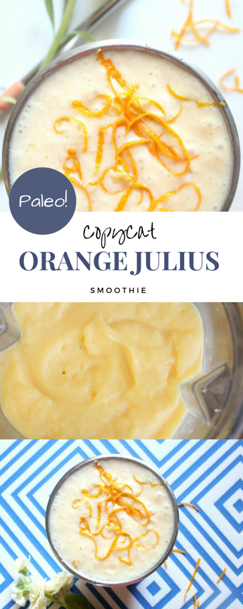 DELICIOUS paleo smoothie! Tastes just like an Orange Julius! A must try - you probably already have the ingredients on hand.