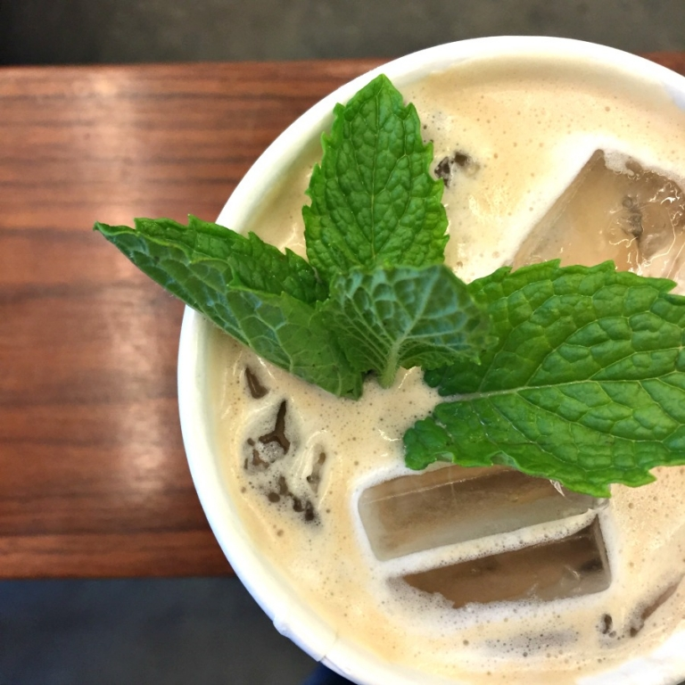 Famous mint iced coffee from Philz!