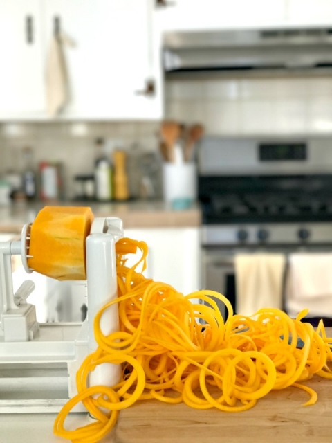 How to make butternut squash noodles for pasta!!
