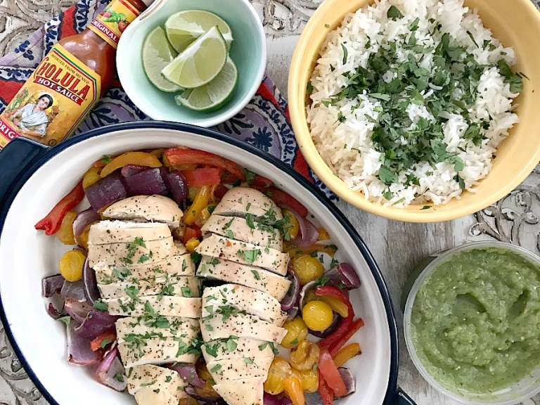 Weeknight meal! One pan baked tequila lime chicken!