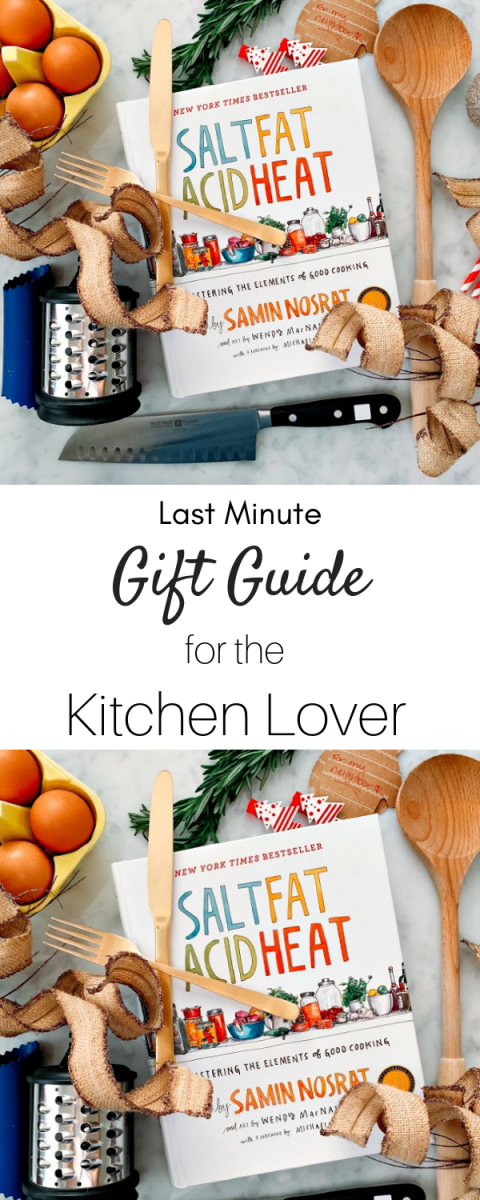 The ultimate list of gifts for the kitchen lover in your family! It's perfect for last minute gift giving and all the items are under thirty dollars!