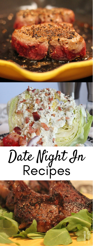 Date night recipes that are sure to please whoever you're cooking for or eating with! Perfect recipes for Valentine's Day or to stay-in. Includes wine pairings!