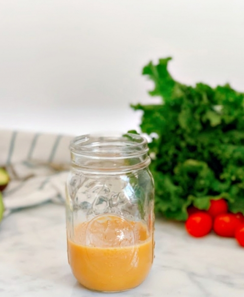 Homemade honey mustard dressing is so easy to make and is bursting with flavor! Perfect as a marinade and for salads or as a condiment!