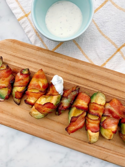 These crispy and creamy bacon wrapped avocado fries are simple and mouthwatering! Perfect for any gathering!