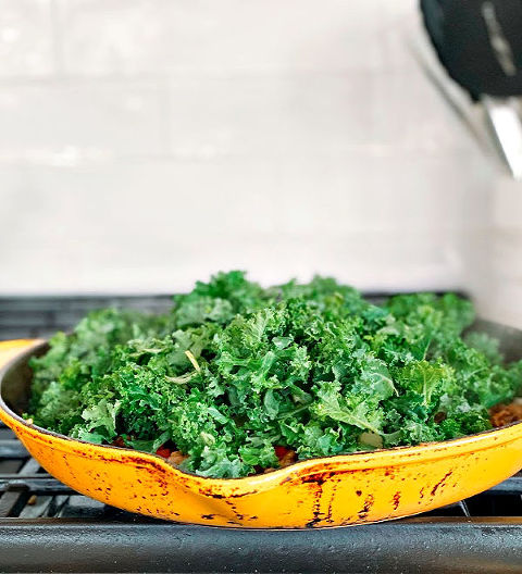 Kale for Stuffed Sweet Potatoes