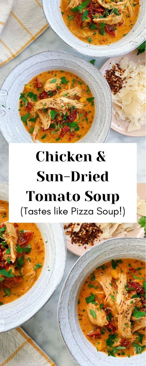 This soup tastes like PIZZA! Bursting with flavor, real ingredients! And it comes together in under 20 minutes!