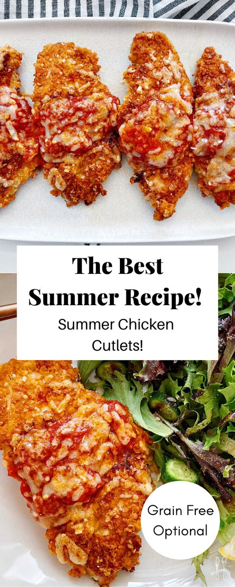 Simple and delicious chicken cutlets with fresh lemon and parmesan cheese!